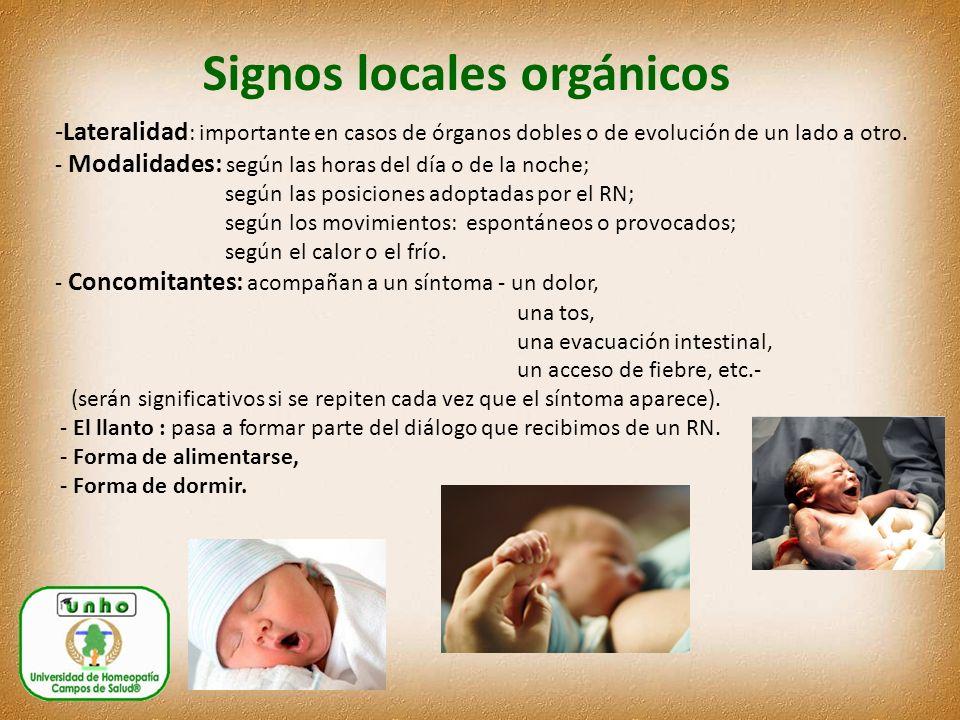 Signos locales orgánicos