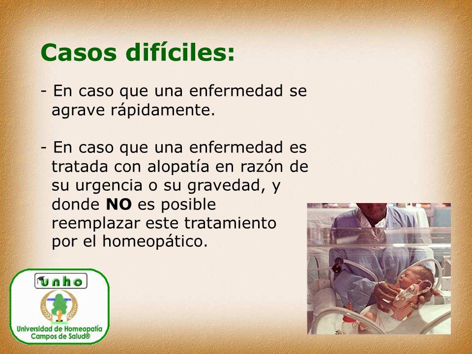 Casos difíciles: - En caso que una enfermedad se