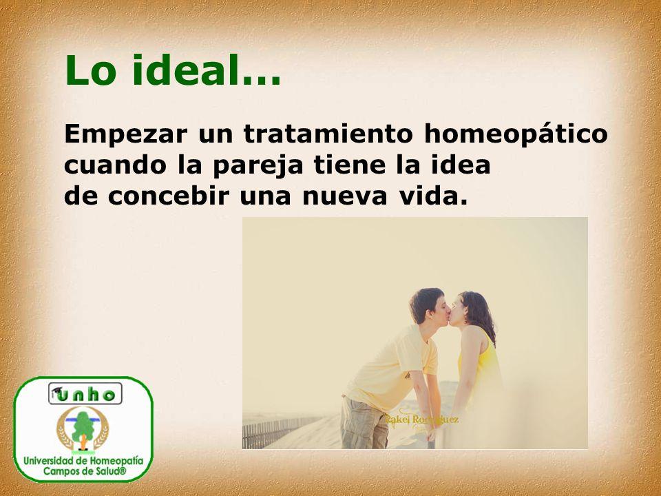 Lo ideal… Empezar un tratamiento homeopático