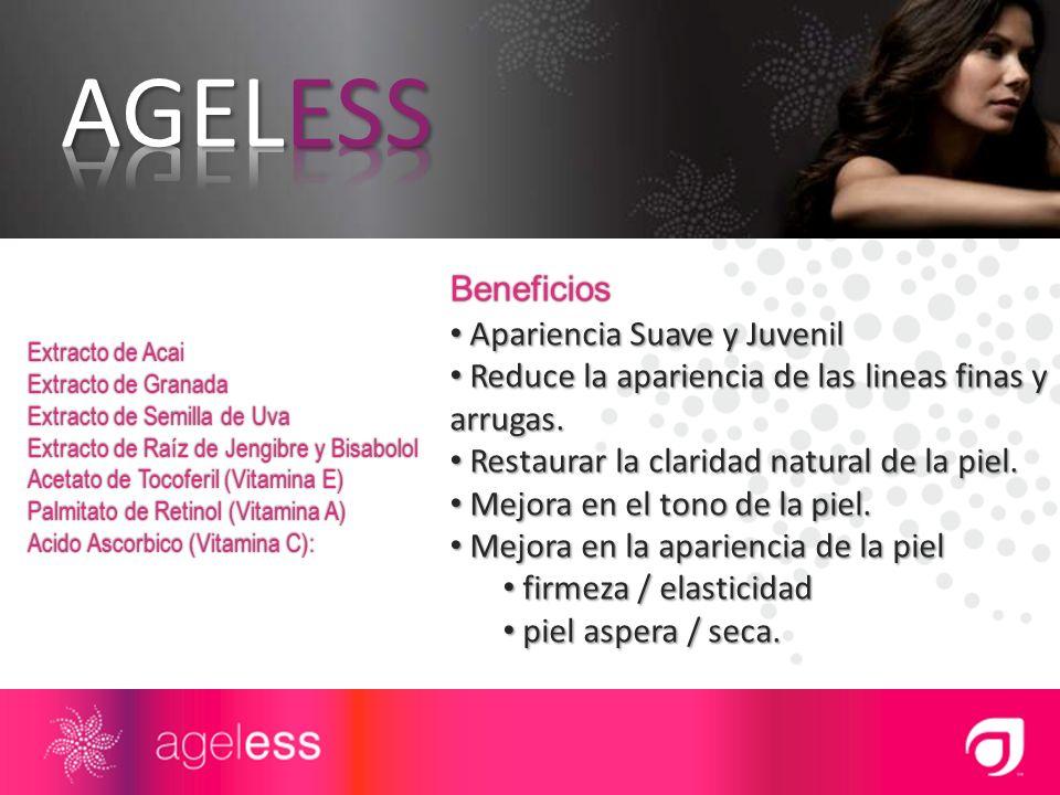 AGELESS Beneficios Apariencia Suave y Juvenil