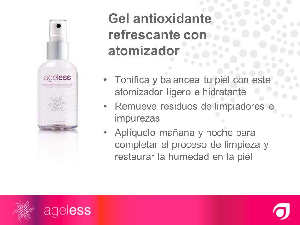 Gel antioxidante refrescante con atomizador