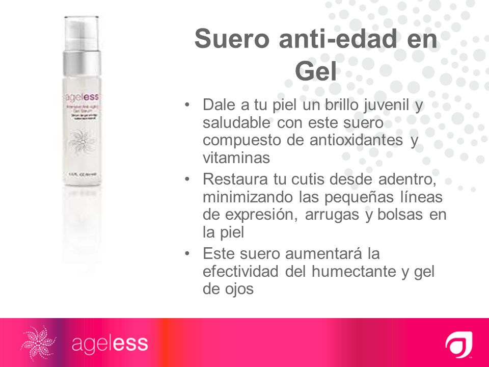 Suero anti-edad en Gel Dale a tu piel un brillo juvenil y saludable con este suero compuesto de antioxidantes y vitaminas.