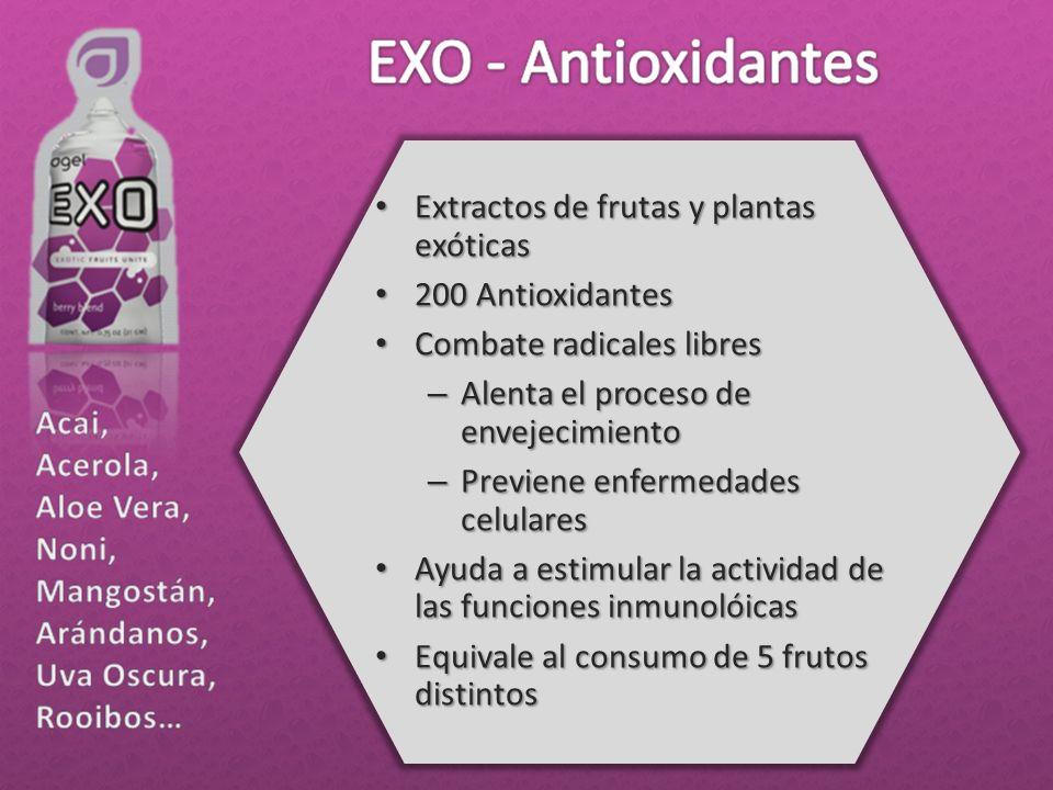 Extractos de frutas y plantas exóticas