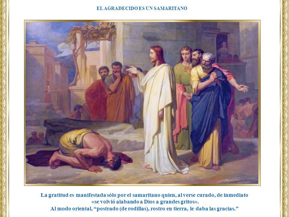 «se volvió alabando a Dios a grandes gritos».