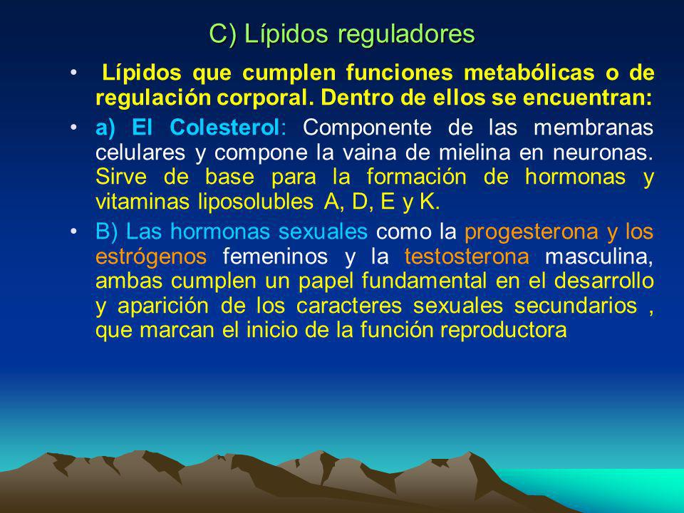 C) Lípidos reguladores