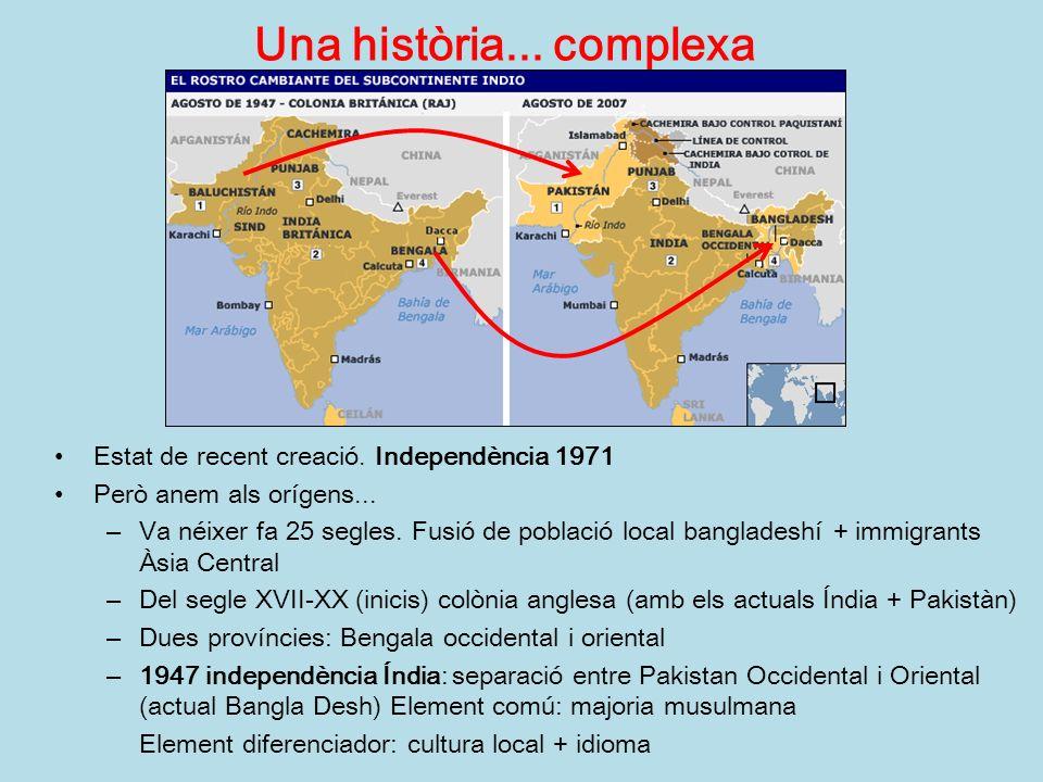 Una història... complexa Estat de recent creació. Independència 1971