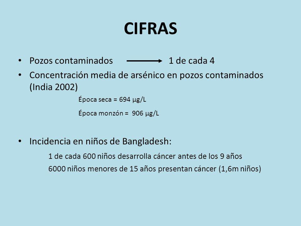 CIFRAS Pozos contaminados 1 de cada 4