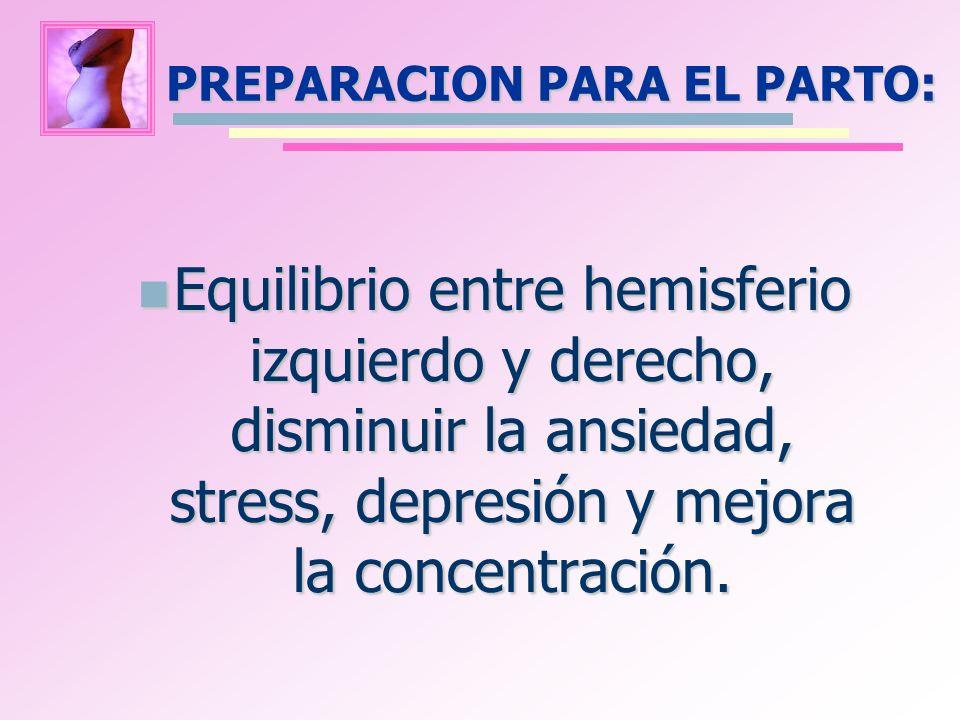 PREPARACION PARA EL PARTO: