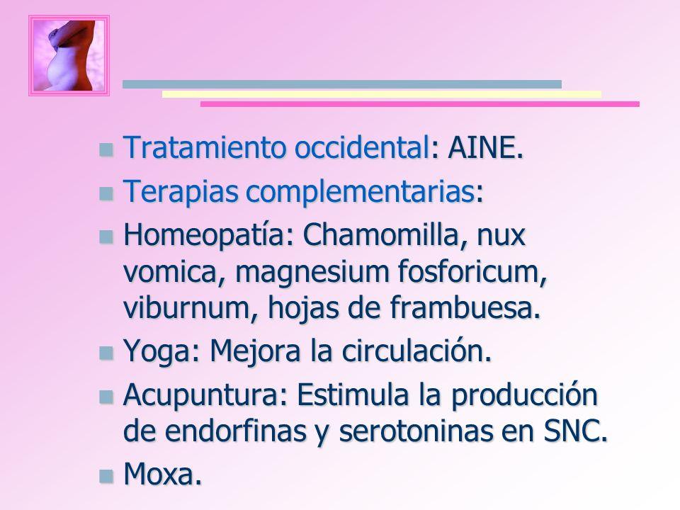 Tratamiento occidental: AINE.