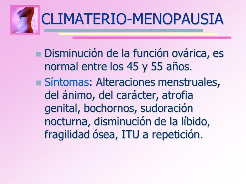 CLIMATERIO-MENOPAUSIA
