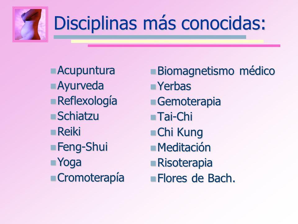 Disciplinas más conocidas: