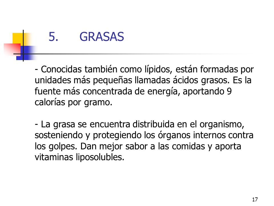 5. GRASAS 5. GRASAS.