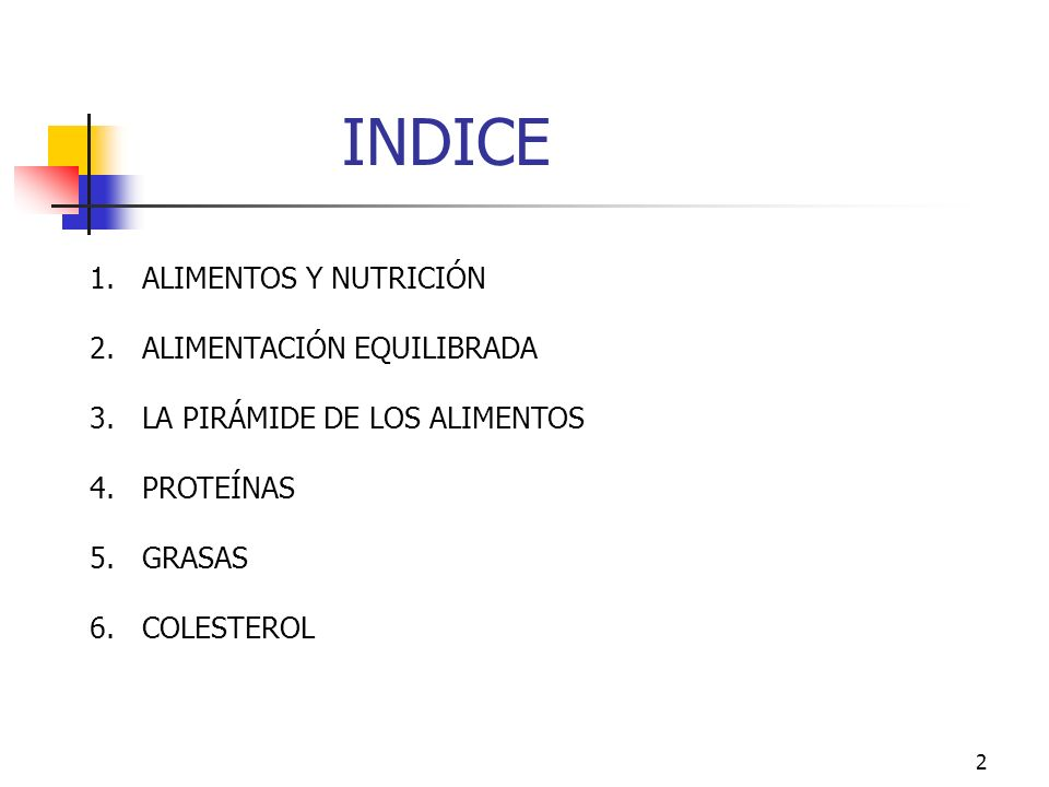 INDICE ALIMENTOS Y NUTRICIÓN ALIMENTACIÓN EQUILIBRADA