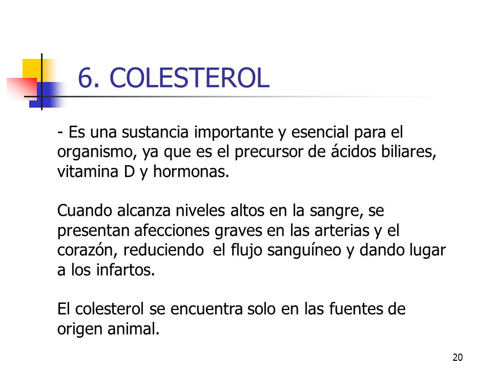 6. COLESTEROL