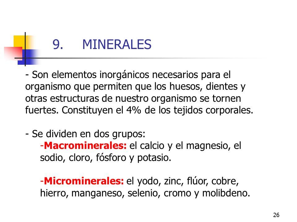 9. MINERALES 9. MINERALES.