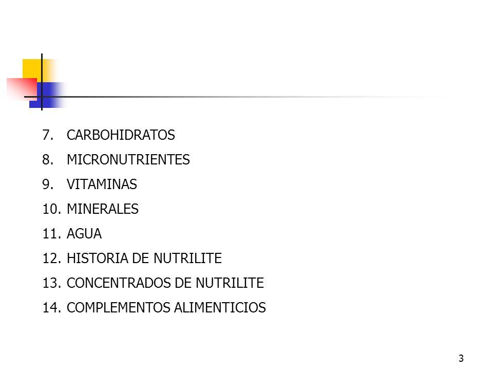 CONCENTRADOS DE NUTRILITE COMPLEMENTOS ALIMENTICIOS