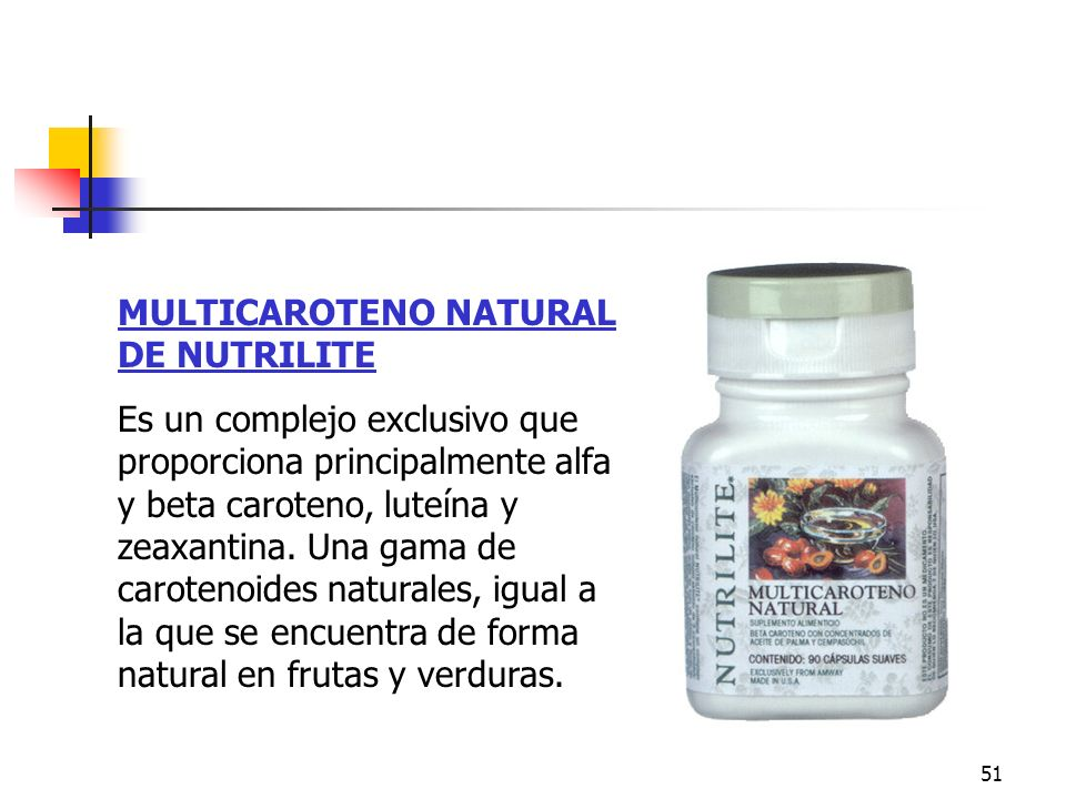 Multicaroteno MULTICAROTENO NATURAL DE NUTRILITE