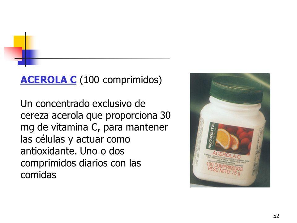 Acerola C ACEROLA C (100 comprimidos)