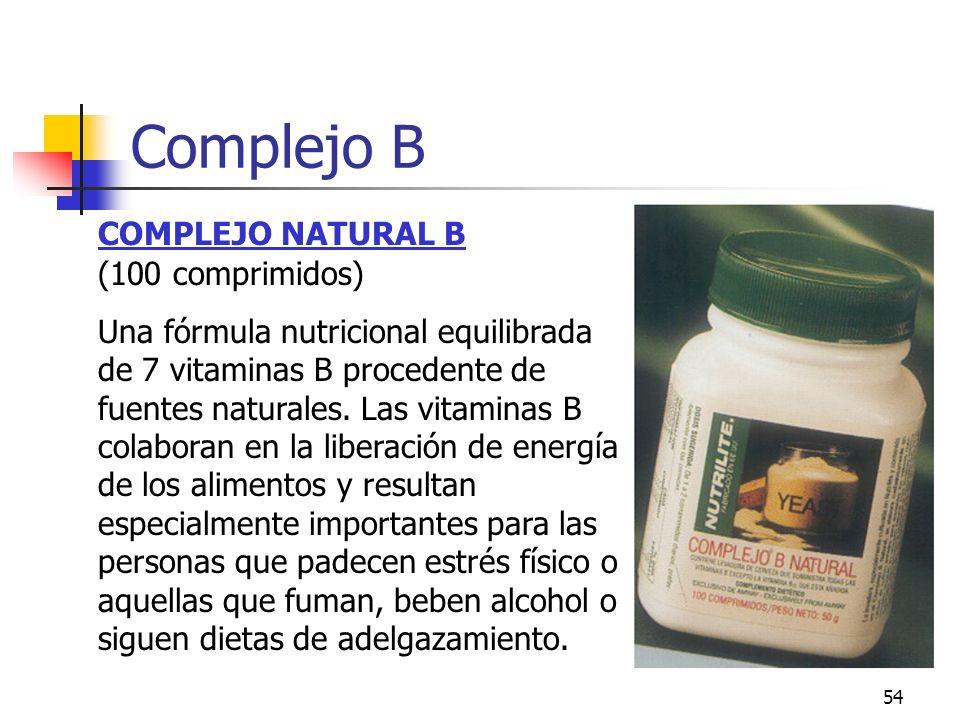 Complejo B COMPLEJO NATURAL B (100 comprimidos)