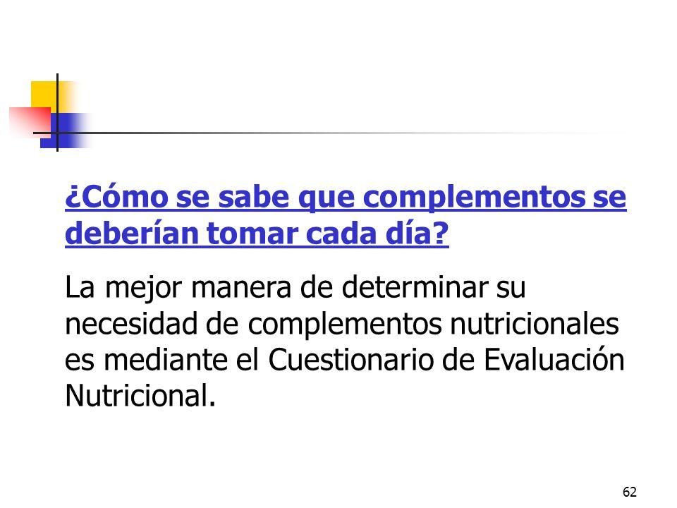 Cuestionario de evaluación nutricional
