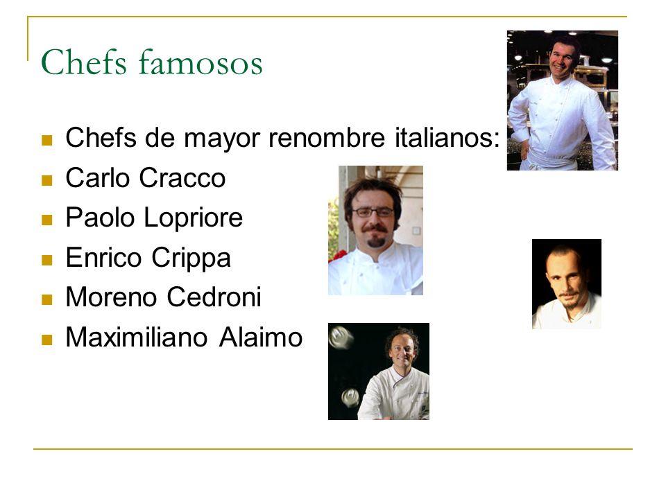 Chefs famosos Chefs de mayor renombre italianos: Carlo Cracco