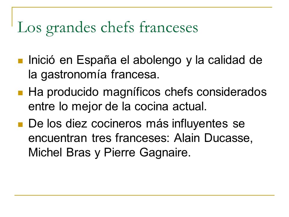 Los grandes chefs franceses