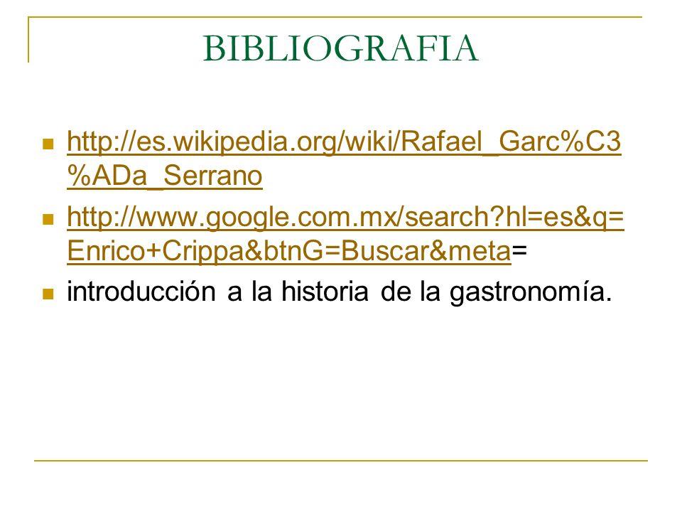 BIBLIOGRAFIA http://es.wikipedia.org/wiki/Rafael_Garc%C3%ADa_Serrano