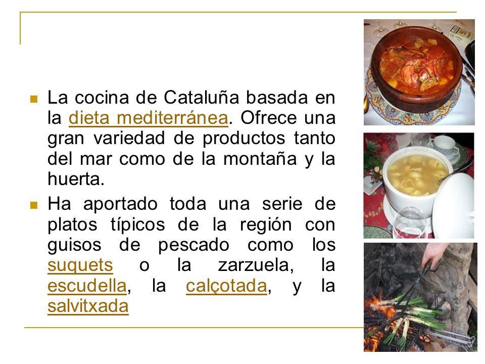 La cocina de Cataluña basada en la dieta mediterránea