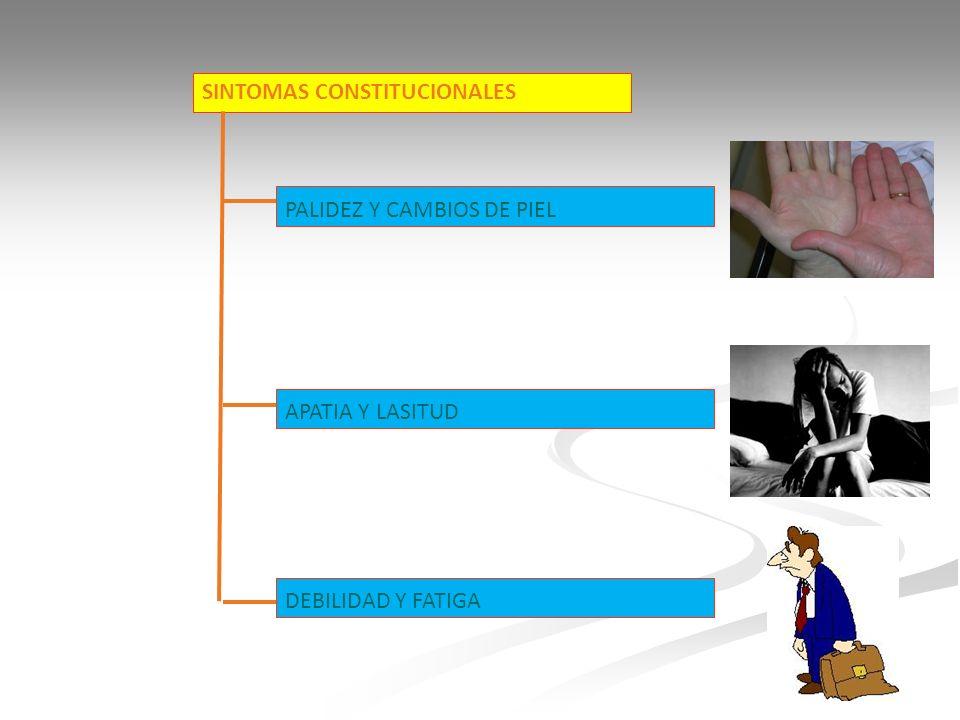 SINTOMAS CONSTITUCIONALES