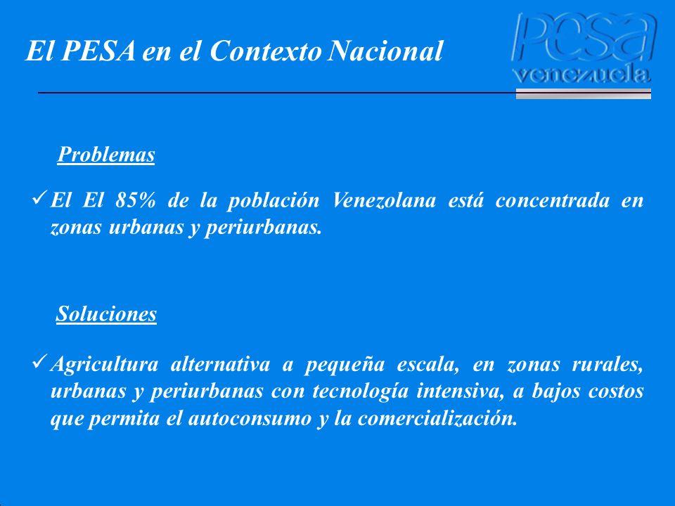 El PESA en el Contexto Nacional