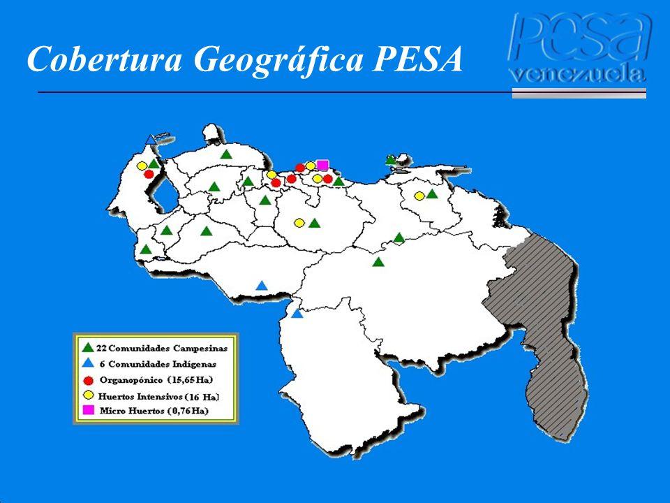 Cobertura Geográfica PESA