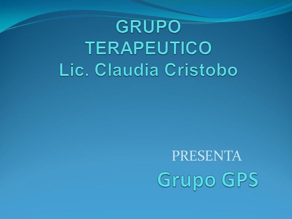 GRUPO TERAPEUTICO Lic. Claudia Cristobo