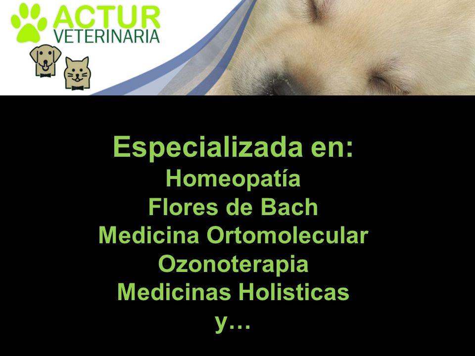 Especializada en: Homeopatía Flores de Bach Medicina Ortomolecular Ozonoterapia Medicinas Holisticas y…