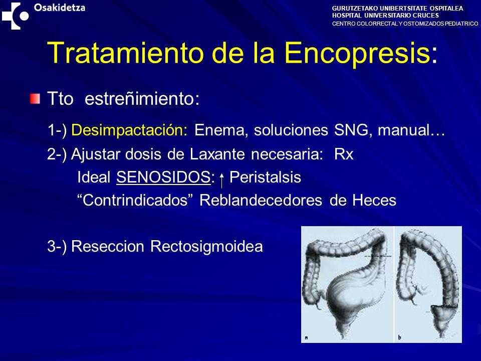 Tratamiento de la Encopresis: