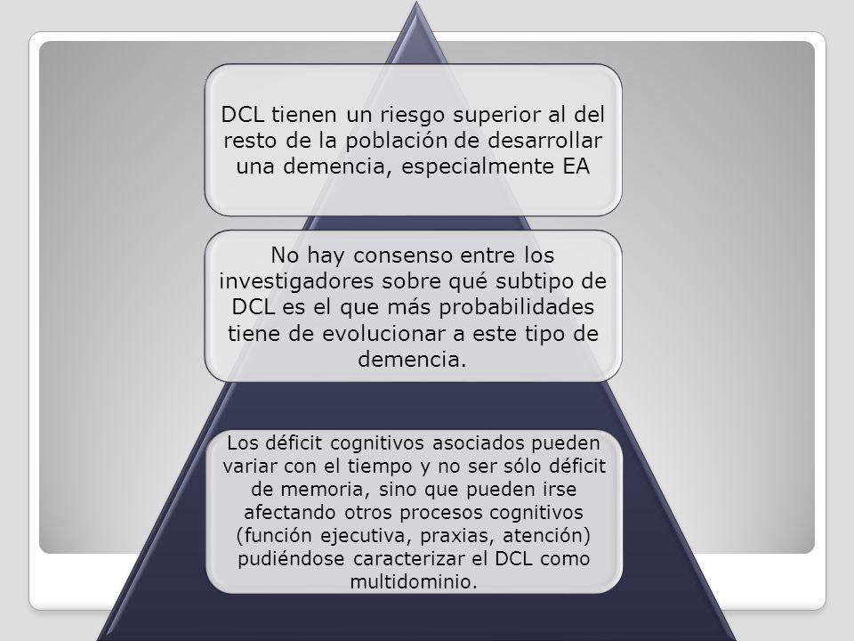 DCL tienen un riesgo superior al del resto de la población de desarrollar una demencia, especialmente EA