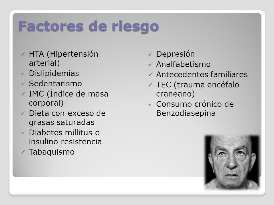 Factores de riesgo HTA (Hipertensión arterial) Dislipidemias
