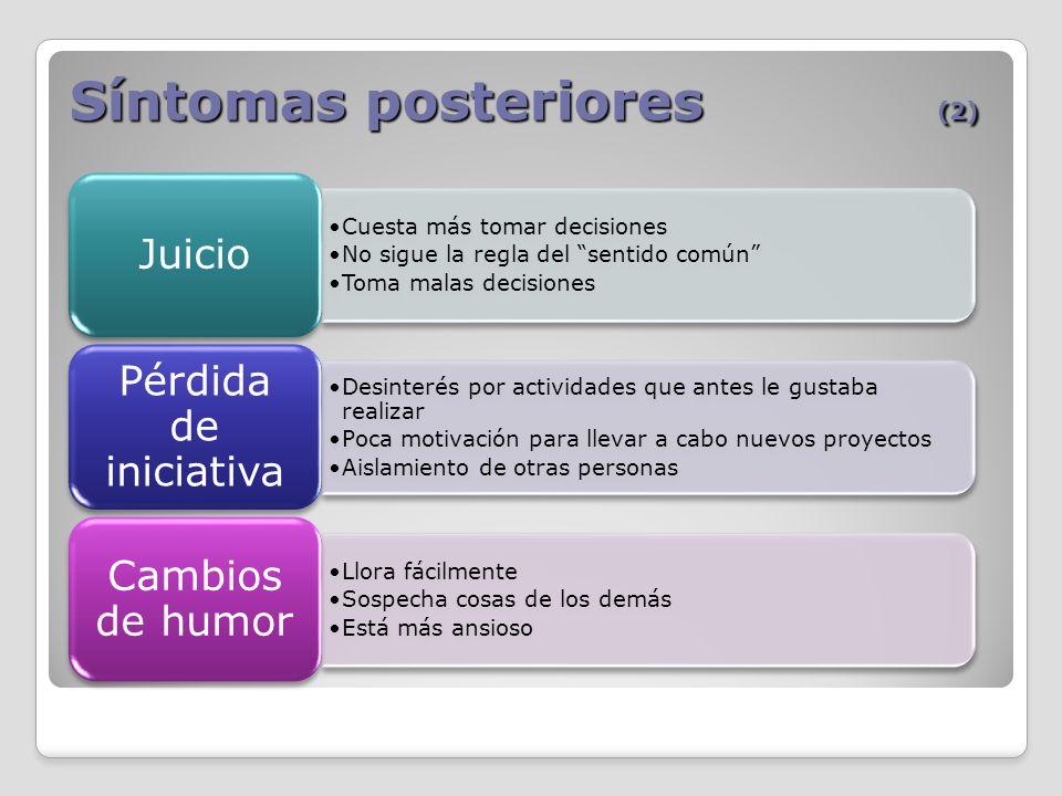 Síntomas posteriores (2)