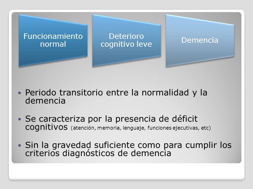 Periodo transitorio entre la normalidad y la demencia