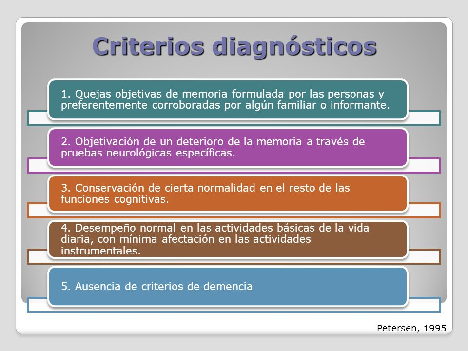 Criterios diagnósticos