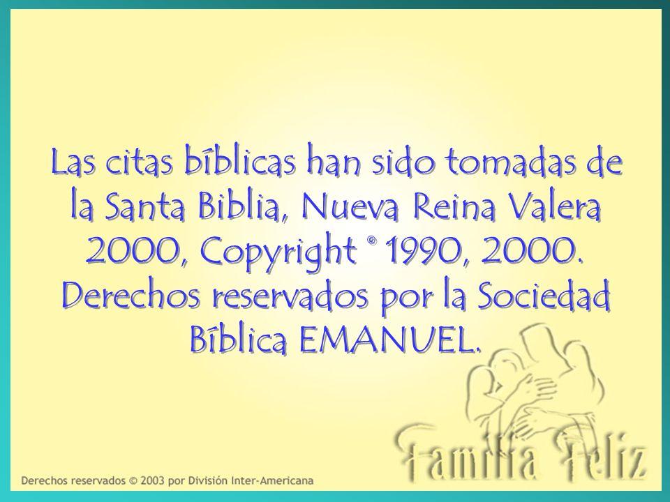 Las citas bíblicas han sido tomadas de la Santa Biblia, Nueva Reina Valera 2000, Copyright © 1990, 2000.