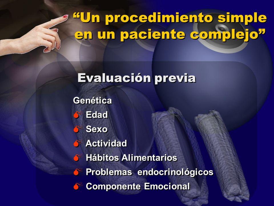 Un procedimiento simple en un paciente complejo