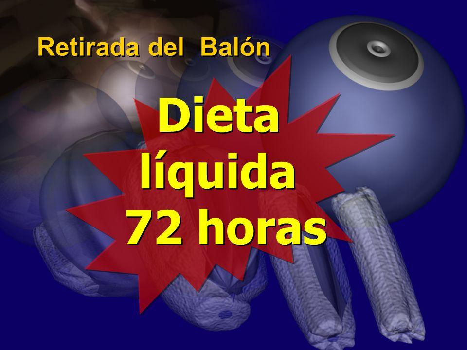 Retirada del Balón Dieta líquida 72 horas
