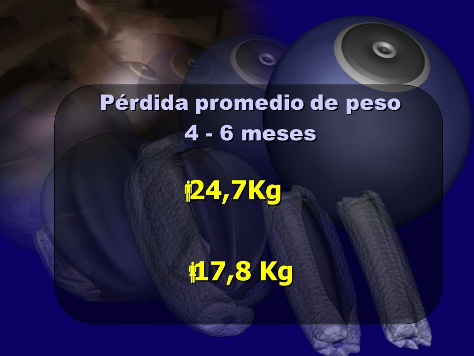 Pérdida promedio de peso