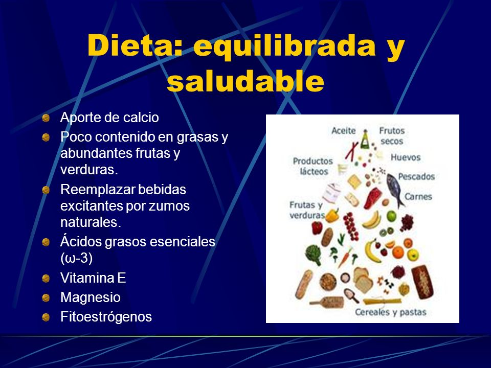 Dieta: equilibrada y saludable