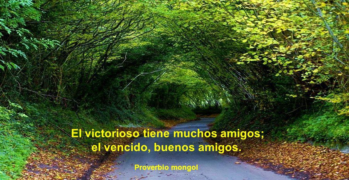 El victorioso tiene muchos amigos; el vencido, buenos amigos.