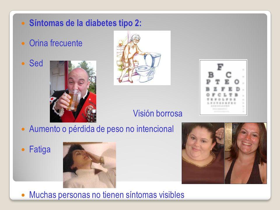 Visión borrosa Síntomas de la diabetes tipo 2: Orina frecuente Sed