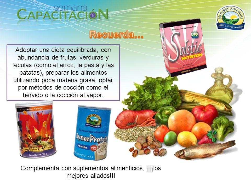 Complementa con suplementos alimenticios, ¡¡¡los mejores aliados!!!