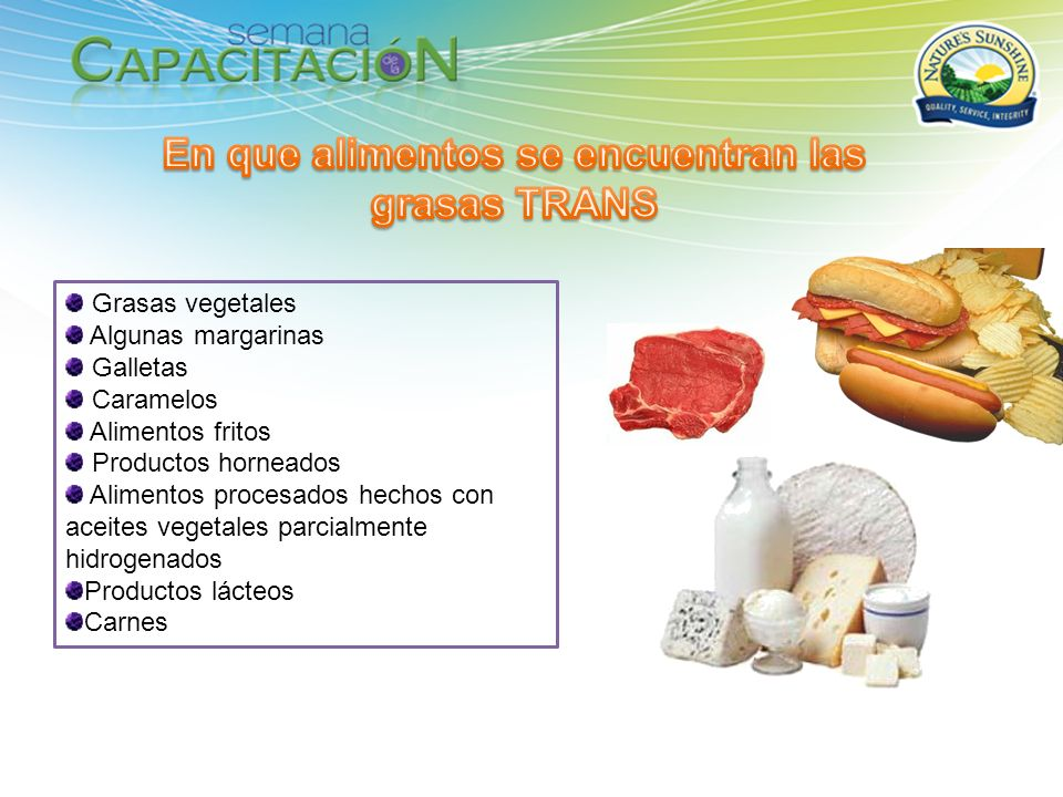 En que alimentos se encuentran las grasas TRANS