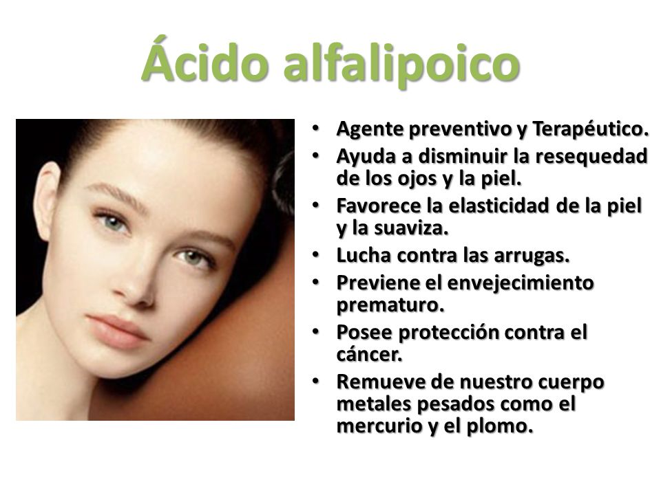 Ácido alfalipoico Agente preventivo y Terapéutico.