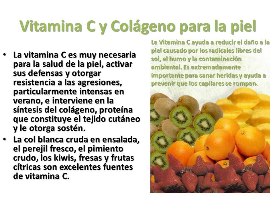 Vitamina C y Colágeno para la piel
